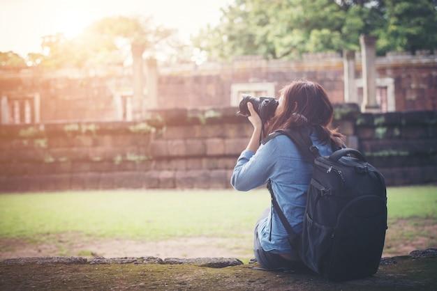 Fotógrafo atracción tailandia selva al aire libre
