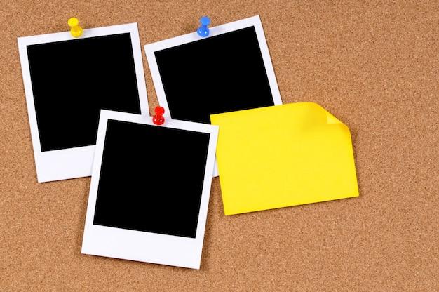 Fotos instantáneas con nota adhesiva