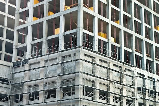 Fragmento de desarrollo del edificio de construcción