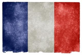 Francia grunge bandera europa