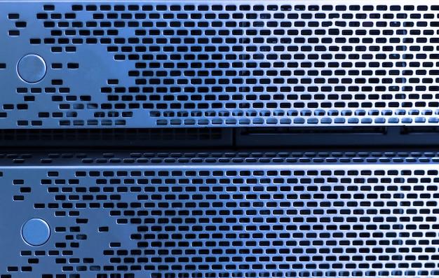 Frente del servidor de almacenamiento, sala de centro de datos
