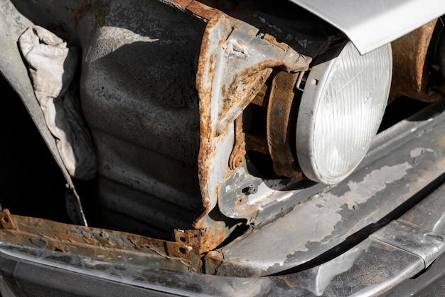 Frente vintage del fondo del coche