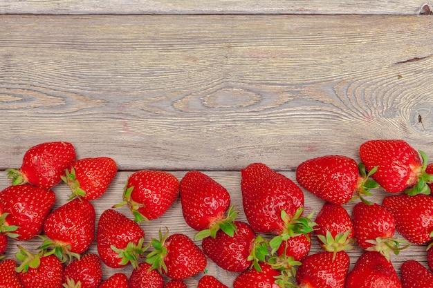 Fresas rojas maduras