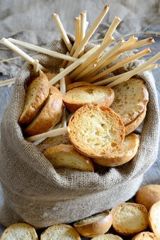Freselle de pan en saco