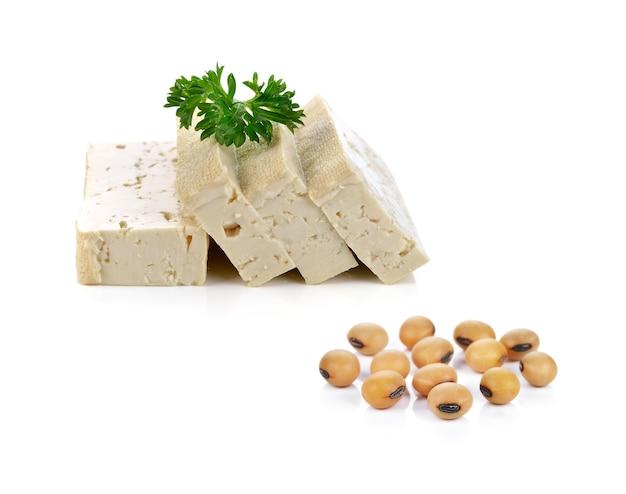 Frijoles de soja y queso de tofu