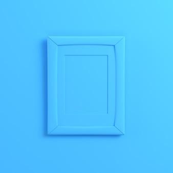 Frrame en blanco sobre fondo azul brillante