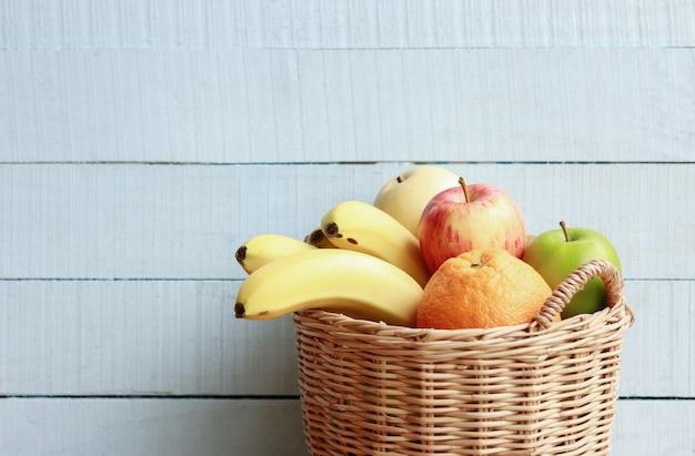 Fruta fresca para una alimentación saludable en la vida diaria.