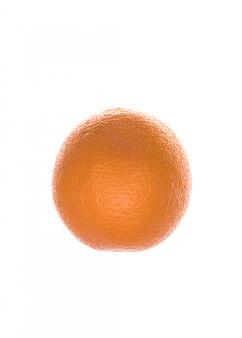 Fruta fresca de naranja aislada sobre blanco