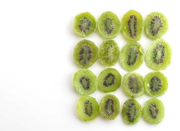 Fruta de kiwi secada