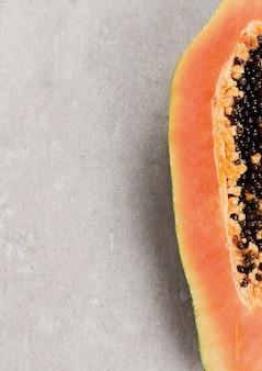 Fruta de papaya fresca