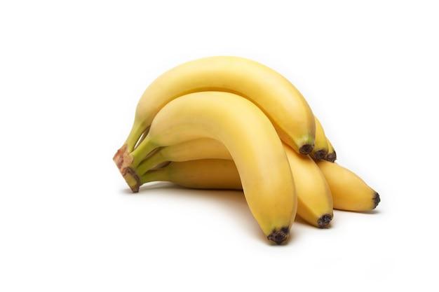 Fruta de plátano en blanco