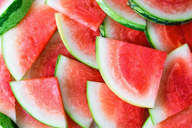 Fruta de sandía cortada estética