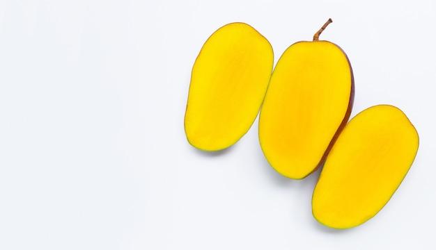 Fruta tropical, mango. vista superior