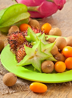 Fruta tropical en tailandia