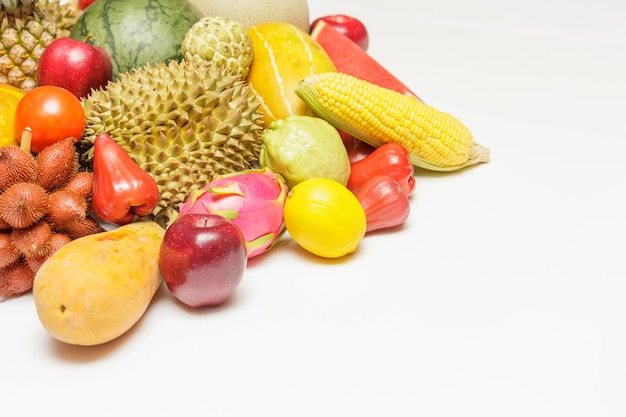 Frutas asiáticas.
