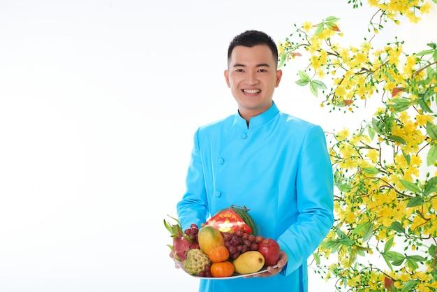 Frutas para la celebración del año nuevo chino