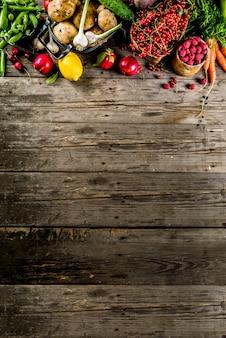 Frutas frescas, bayas y verduras