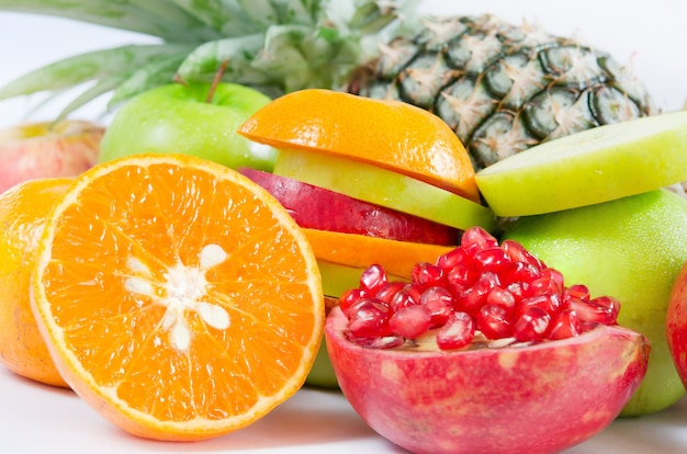 Frutas frescas mezcladas