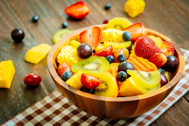 Frutas mixtas y variadas.