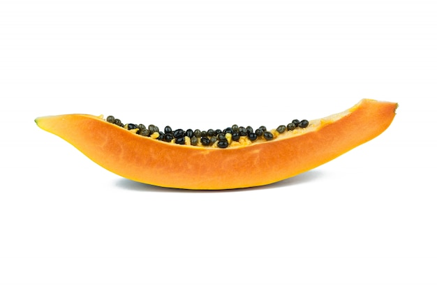 Frutas de papaya aisladas