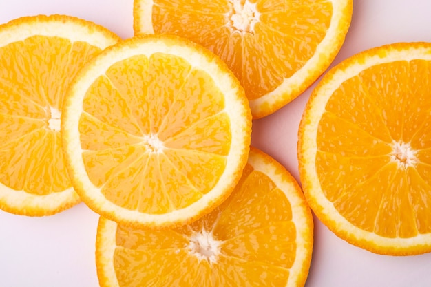Frutas tropicales rodajas de naranja