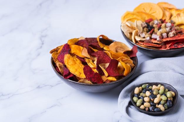 Frutas y verduras deshidratadas caqui sandía piña chips de remolacha