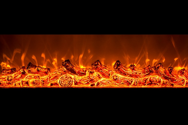 Fuego de chimenea eléctrica