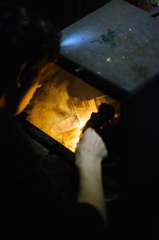 Fuego en el horno