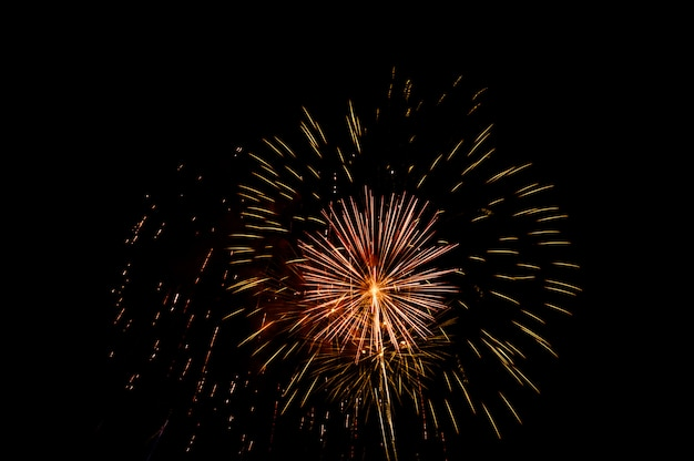 Fuegos artificiales iluminan el cielo