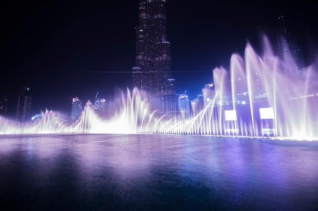 Fuente de agua de baile de dubai