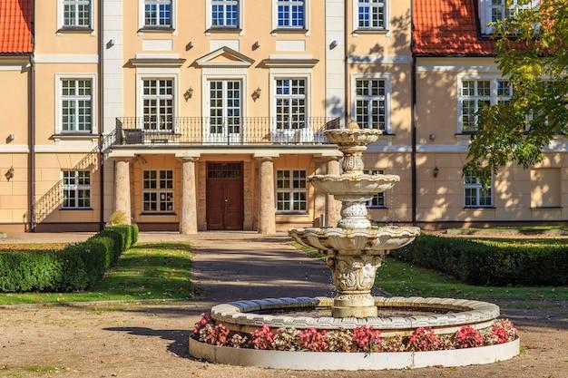 Fuente en el parque del palacio
