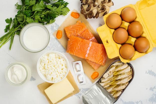 Fuentes naturales de vitamina d y calcio.