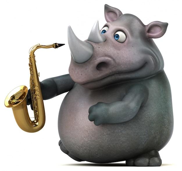 Fun rhino - ilustración 3d