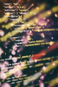 Funciones de programación web en una computadora portátil en una computadora portátil. negocio de ti. pantalla de computadora de código python. concepto de diseño de aplicaciones móviles.
