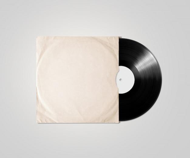 Funda de álbum de vinilo en blanco, aislada