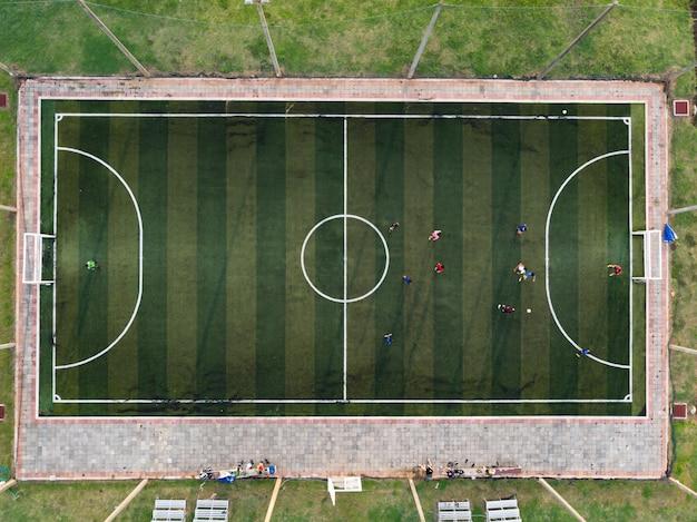 Fútbol sala al aire libre, cancha de fútbol.