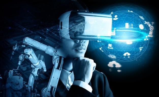 Futura tecnología de realidad virtual para el control de brazos robóticos de la industria mecanizada