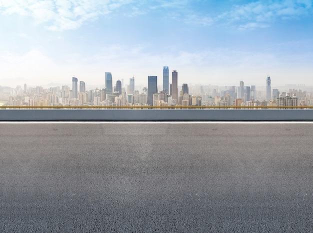Futurista urbano centro de la superficie exterior financiero