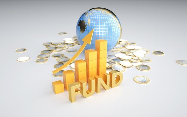 Futuros del mercado de valores de representación 3d de información privilegiada de negocios