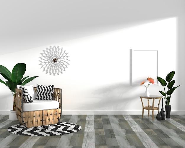 Gabinete en piso de baldosas de madera oscura