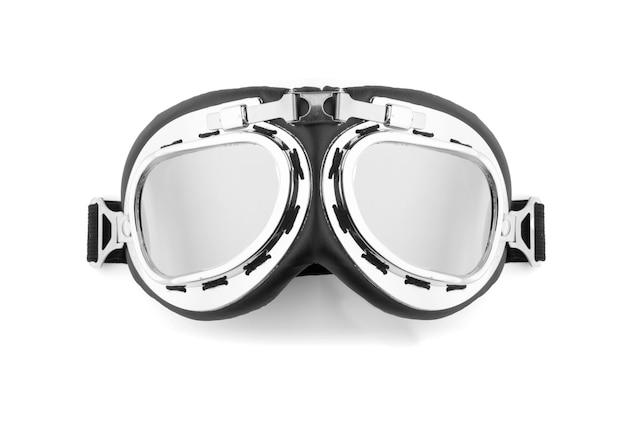 Gafas piloto aisladas en blanco
