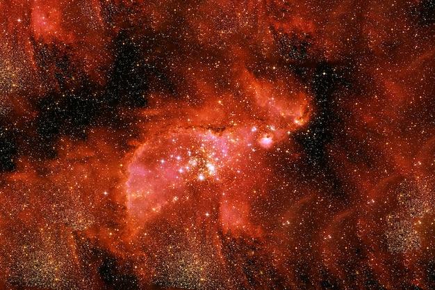 Galaxia roja en el espacio profundo. los elementos de esta imagen fueron proporcionados por la nasa. foto de alta calidad