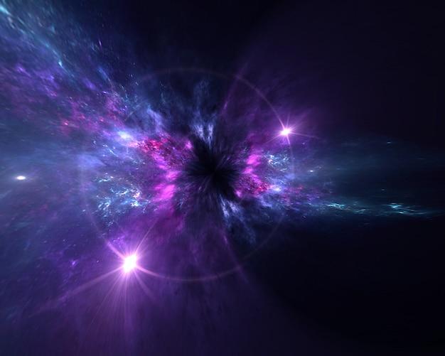 Galaxy, un sistema de millones o miles de millones de estrellas