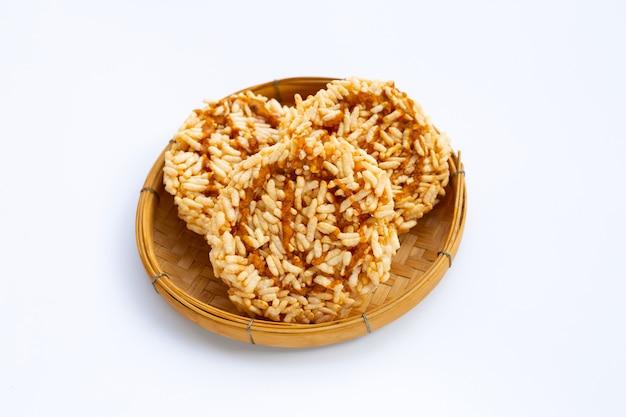 Galleta de arroz con azúcar de palma de coco