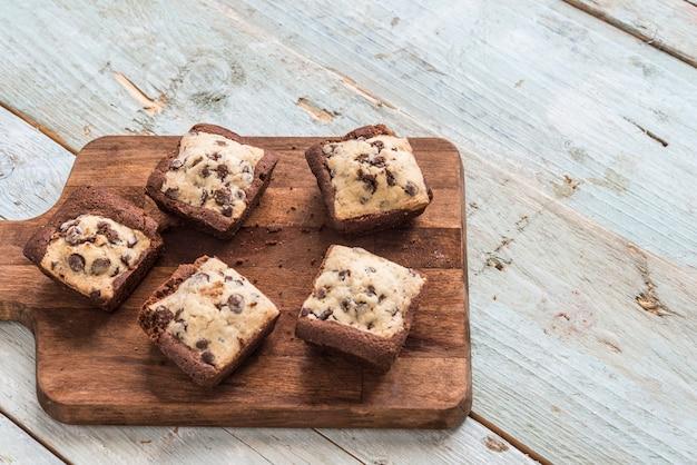 Galleta brownie de chocolate hecha a mano