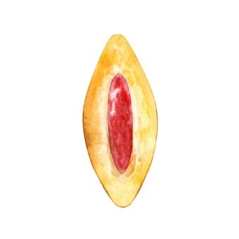 Galleta dibujada a mano con mermelada