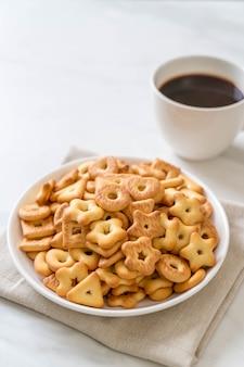 Galleta de galletas con café