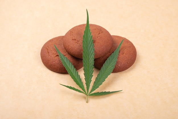 Galleta con thc, comida dulce con cannabis.