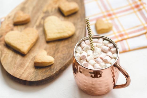 Galletas de cacao y corazón