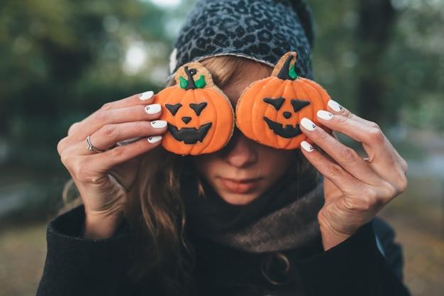 Galletas de calabaza de halloween